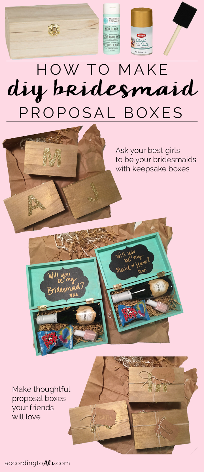 How to Make DIY Bridesmaid Proposal Boxes
