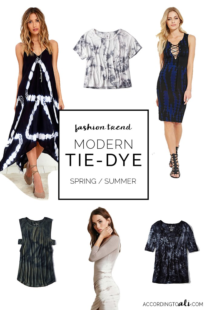 Modern Tie-Dye Fashion Trend for Spring & Summer