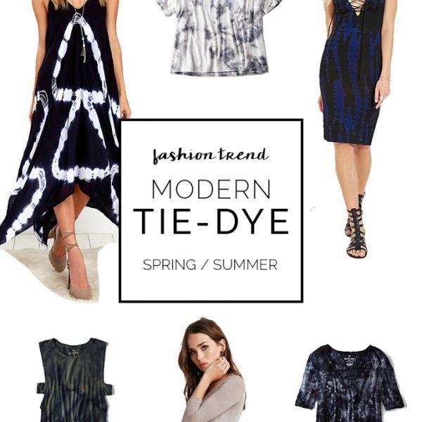 Modern Tie-Dye Fashion Trend for Spring & Summer